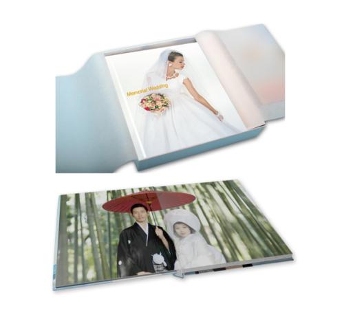 結婚式・ウェディング 写真人気のページは厚めの重厚感漂う写真集