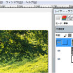 GIMPの使い方 写真に白い枠を付けてみましょう。