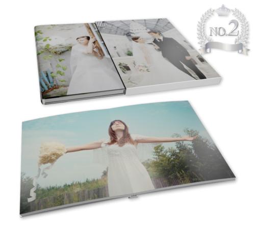 表紙、ケースにオリジナル画像の写真集(フラット)